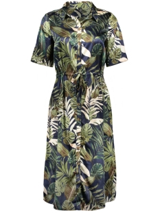 Vero Moda Jurk VMLEAVES 2/4 SHIRT DRESS EXP 10226457 Night Sky/LEAVES