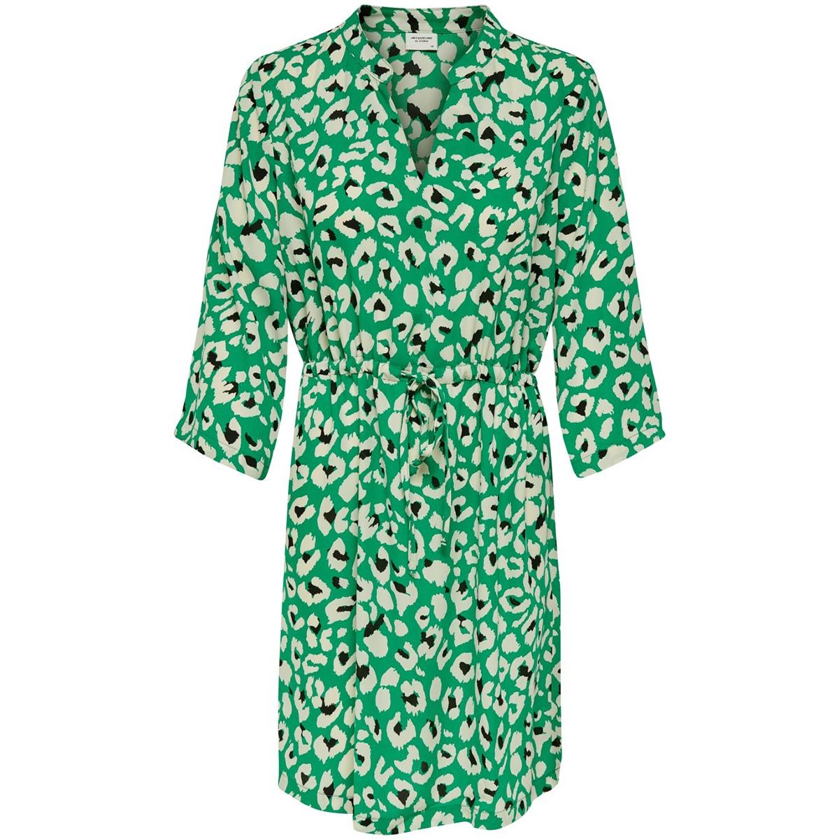 jdywin treats 3/4 dress wvn 15176867 jacqueline de yong jurk greenlake/white