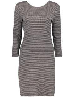 Only Jurk ONLVIGGA 3/4 HOUNDSTOOTH DRESS JRS 15185368 Cloud Dancer/Mini Hound