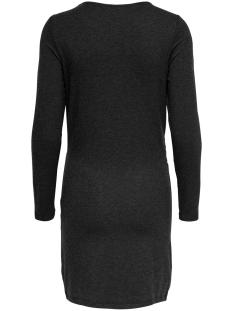 onlmoster l/s twist  dress jrs 15188018 only jurk dark grey melan/melange