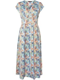 vmcharlee sl 7/8 dress wvn lcs 10216970 vero moda jurk cool blue/charlee aop