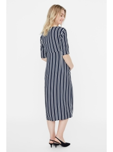 mllina 2/4 woven midi dress 20009942 mama-licious positie jurk navy blazer