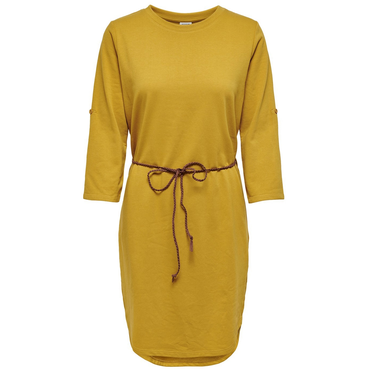 jdyivy 3/4 belt  dress jrs noos 15184136 jacqueline de yong jurk harvest gold/fake suede