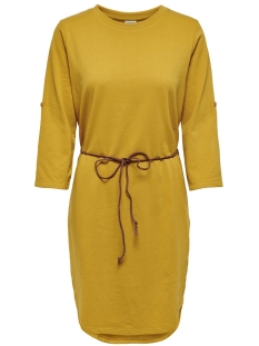 Jacqueline de Yong Jurk JDYIVY 3/4 BELT  DRESS JRS NOOS 15184136 Harvest Gold/FAKE SUEDE