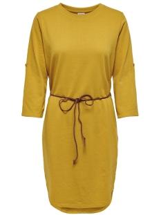Jacqueline de Yong Jurk JDYIVY 3/4 BELT  DRESS JRS NOOS 15184136 Harvest Gold/FAKE SUEDE