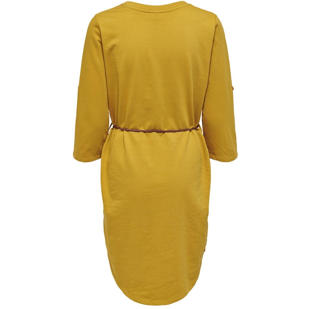 jdyivy 3/4 belt  dress jrs noos 15184136 jacqueline de yong jurk harvest gold/fake suede