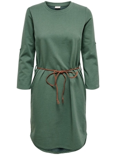 Jacqueline de Yong Jurk JDYIVY 3/4 BELT  DRESS JRS NOOS 15184136 Duck Green