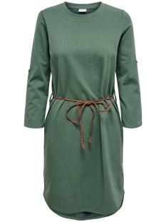 Jacqueline de Yong Jurk JDYIVY 3/4 BELT  DRESS JRS NOOS 15184136 Duck Green