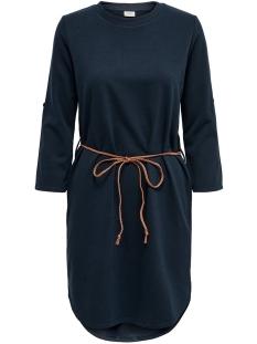 Jacqueline de Yong Jurk JDYIVY 3/4 BELT  DRESS JRS NOOS 15184136 Sky Captain/FAKE SUEDE