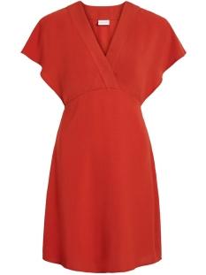 vijahula s/s dress/ki 14053938 vila jurk ketchup
