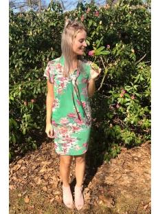xandra geprinte jurk met sjaal dayz jurk green multi