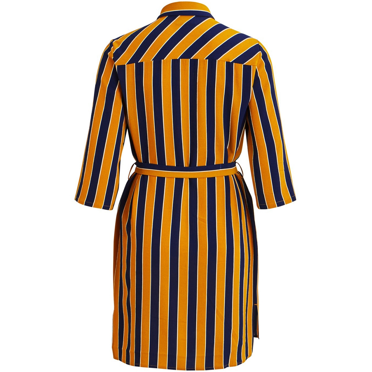 objlia tess 3/4 shirt dress pb6 23029711 object jurk buckthorn brown/striped
