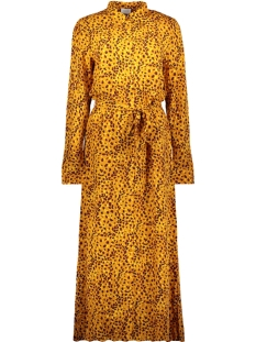 vimask tansy l/s midi dress/l 14054696 vila jurk golden oak/tansy
