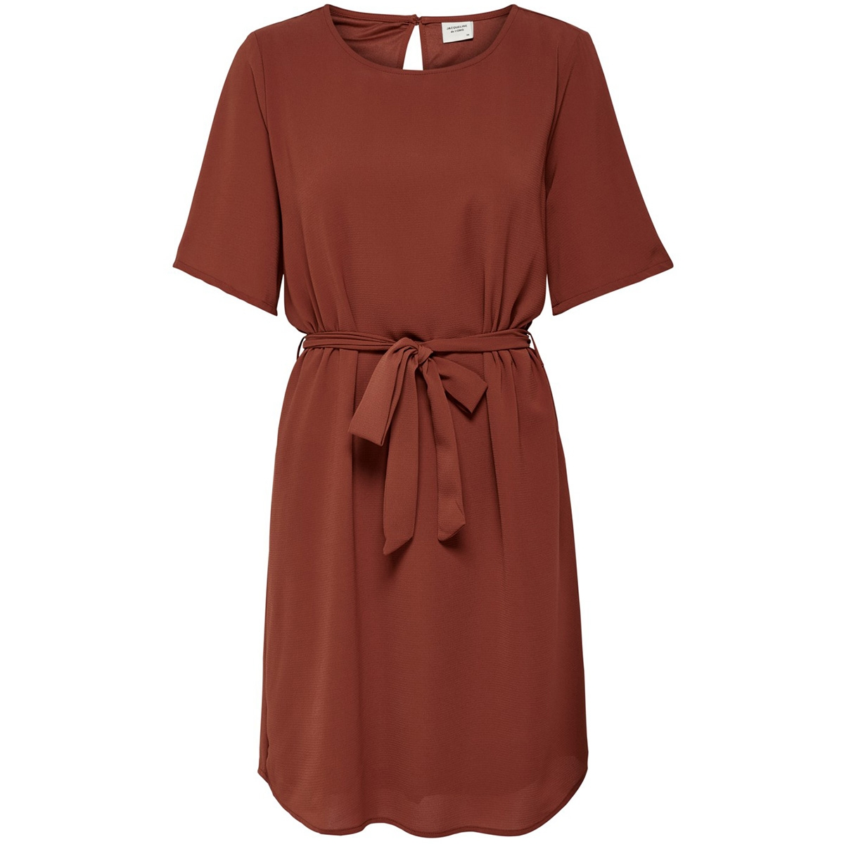 jdyamanda 2/4 belt dress wvn noos 15190690 jacqueline de yong jurk smoked paprika