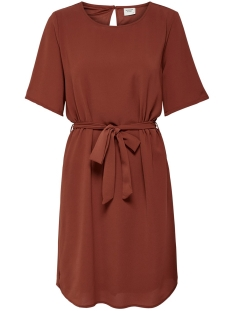 Jacqueline de Yong Jurk JDYAMANDA 2/4 BELT DRESS WVN NOOS 15190690 Smoked Paprika