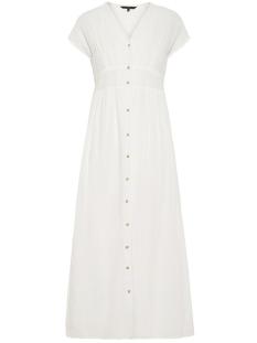 Vero Moda Jurk VMSAMMI S/L WIDE ANKLE BUTTON DRESS 10214561 Snow White