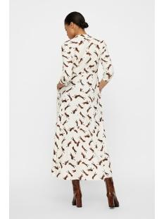 vmlizzy tiger ¾ ankle shirt dress e 10224643 vero moda jurk pristine/tiger