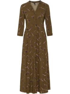 vmlizzy tiger ¾ ankle shirt dress e 10224643 vero moda jurk ivy green/tiger