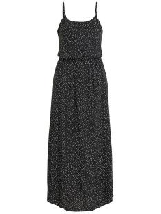 objclarissa singlet maxi dress 103 23029549 object jurk black/w. white dots