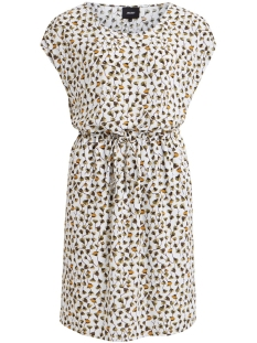 Object Jurk OBJBAY DALLAS S/S DRESS AOP  SEASON 23029254 Gardenia