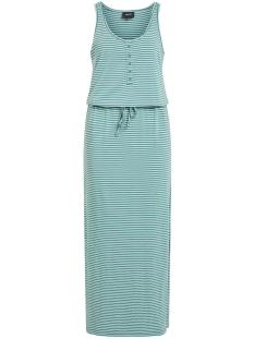 OBJSTEPHANIE MAXI DRESS NOOS 23021524 Blue Spruce/WHITH WHITE