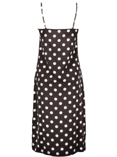 pckamira printed slip dress d2d 17102963 pieces jurk chocolate plum/white dots