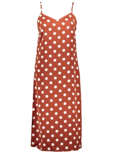 Pieces Jurk PCKAMIRA PRINTED SLIP DRESS D2D 17102963 Picante/WHITE DOTS
