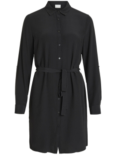 vithoma l/s shirt dress 14052288 vila jurk black