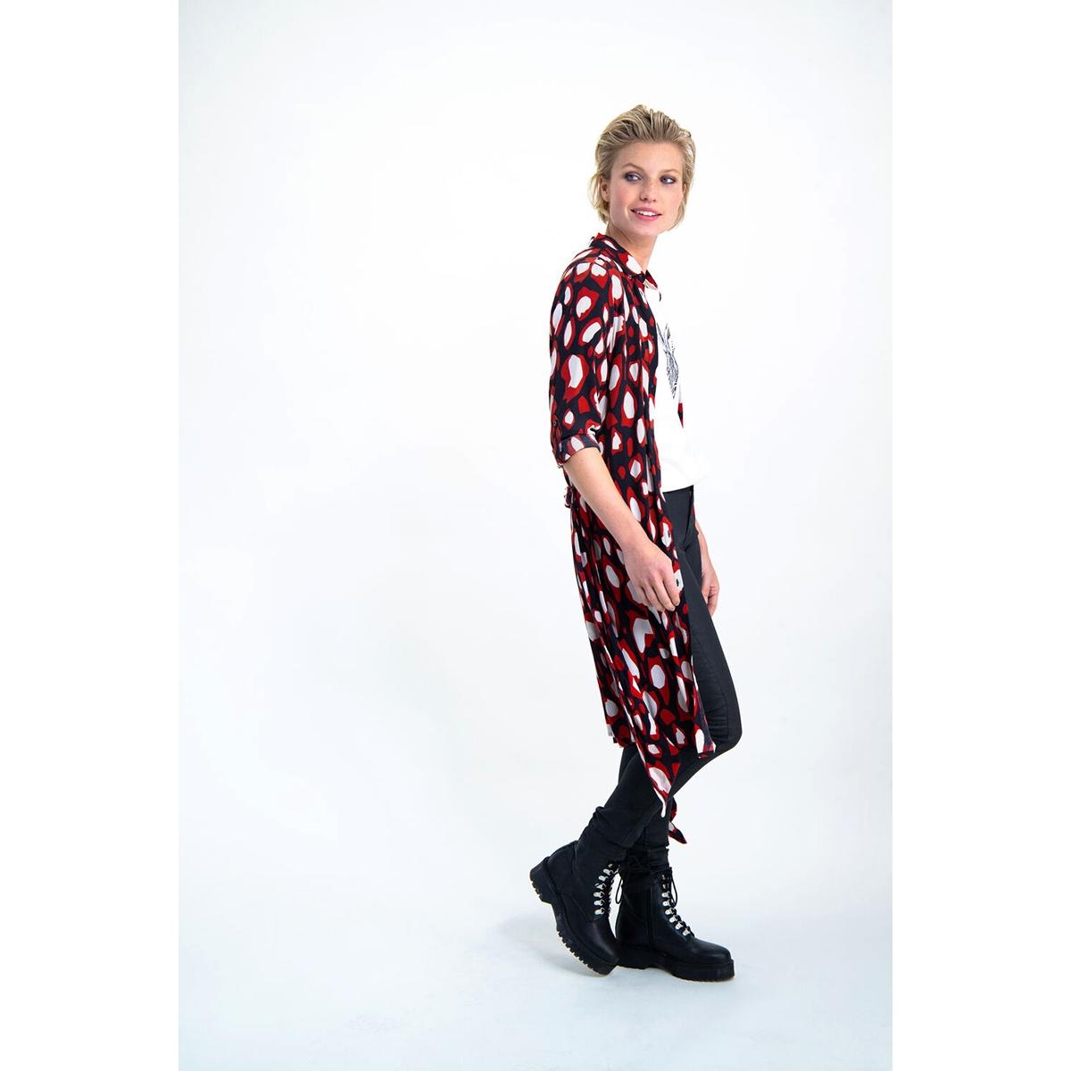 jurk met all over print g90086 garcia jurk 60 black