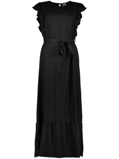 Jacqueline de Yong Jurk JDYAURA S/L FLOUNCE DRESS WVN EXP 15187734 Black