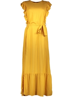 Jacqueline de Yong Jurk JDYAURA S/L FLOUNCE DRESS WVN EXP 15187734 Golden Yellow