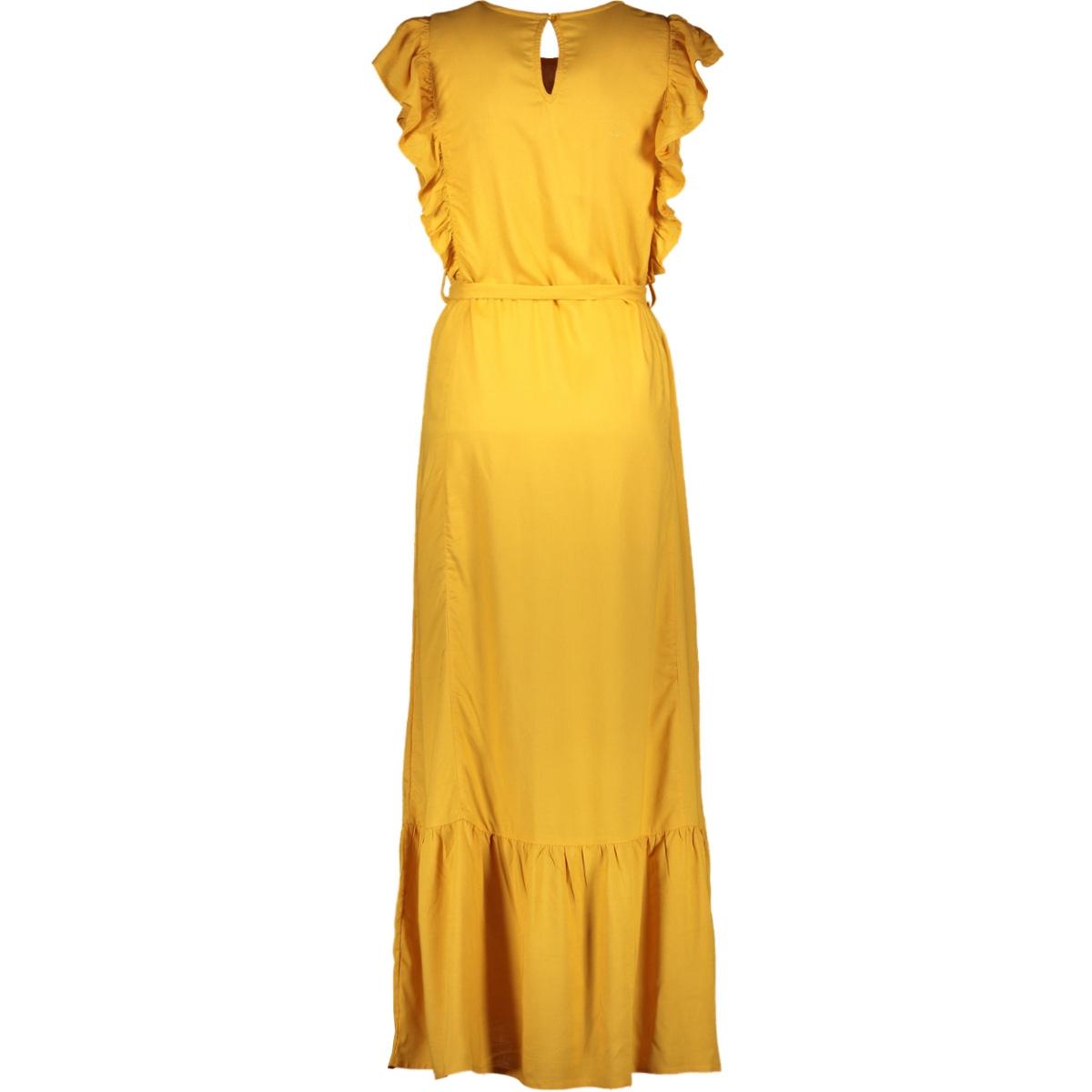 jdyaura s/l flounce dress wvn exp 15187734 jacqueline de yong jurk golden yellow