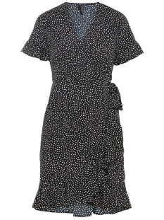 Vero Moda Jurk VMHENNA 2/4 WRAP FRILL DRESS EXP 10217974 Black/DOTS