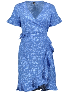 Vero Moda Jurk VMHENNA 2/4 WRAP FRILL DRESS EXP 10217974 Nebulas Blue/DOTS