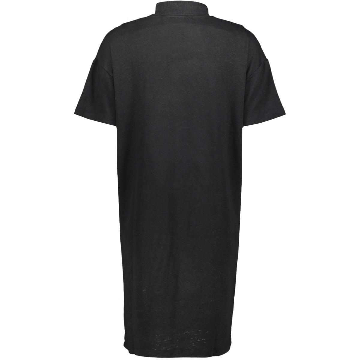 turtle neck linen 20 310 9103 10 days jurk black