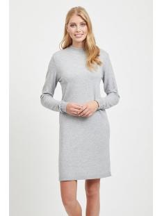 objthess l/s knit dress noos 23030730 object jurk light grey melange