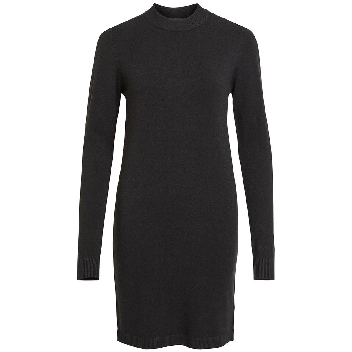 objthess l/s knit dress noos 23030730 object jurk black