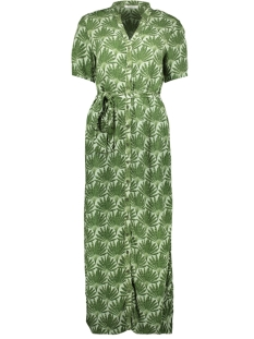 Pieces Jurk PCLIANNA SS LONG SHIRT DRESS D2D 17100136 Garden Green/LEAVES