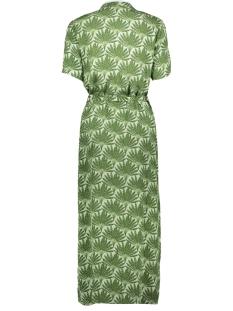 pclianna ss long shirt dress d2d 17100136 pieces jurk garden green/leaves