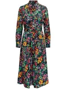 Only Jurk ONLREIGN L/S LONG SHIRTDRESS WVN 15199509 Black/ Flower