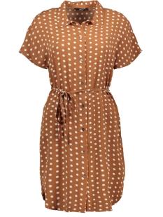 ONLNOVA LUX AOP S/S SHIRT DRESS 7 W 15187479 Ginger Bread/PRETTY DOT