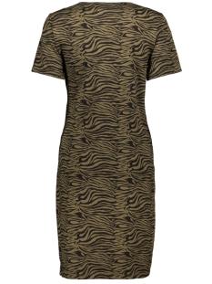 pcvianni ss dress d2d 17101408 pieces jurk beech/black tiger