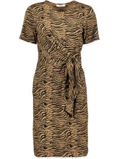 Pieces Jurk PCVIANNI SS DRESS D2D 17101408 Toasted Coconut/BLACK TIGER