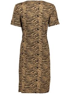 pcvianni ss dress d2d 17101408 pieces jurk toasted coconut/black tiger