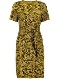 pcvianni ss dress d2d 17101408 pieces jurk arrowwood/black tiger