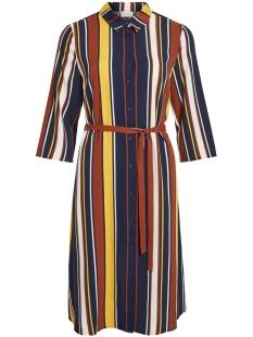 Vila Jurk VIMATTI STRIPE S/S SHIRT DRESS/L 14055887 Navy Blazer/MIXED STR