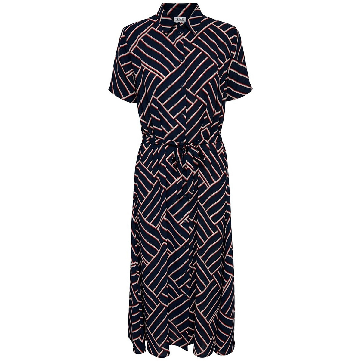 jdywin treats s/s long dress wvn 15179844 jacqueline de yong jurk sky captain/graphical
