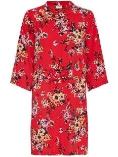 Jacqueline de Yong Jurk JDYWIN TREATS 3/4 DRESS WVN 15176867 Goji Berry/FLOWER