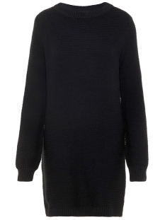 Noisy may Jurk NMRICHARD L/S O-NECK KNIT DRESS CLR 27008804 Black