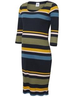 Mama-Licious Positie jurk MLSOYA 3/4 JERSEY KL DRESS A. 20010077 Salute/Y/D. STRIPE